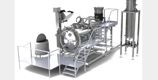 horizontal processing plant aroma recovery